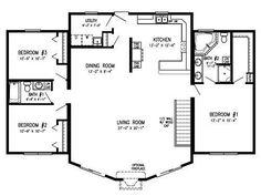 2 Open Concept Floor Plans Cottage Plan Homes Square