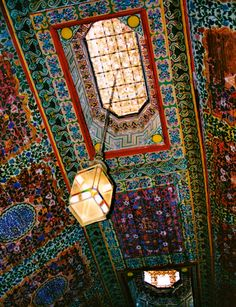 Incredible patterned ceiling in Marrakesh, Morocco. I talk a lot about Moroccan pattern in my book, Marrakesh by Design.
