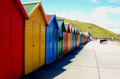 Forget mansions, boats and fancy cars. Beach Hut Decor, Beach Huts, British Beaches, British Seaside, Whitby England, Places Around The World, Around The Worlds, Beachy Colors, Seaside Beach