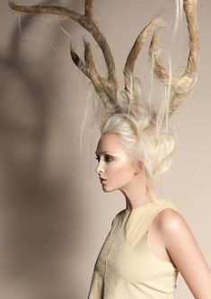 Crazy wild antler hair by Hannah Escano of Suki Hairdressing Hair Romance loves wild