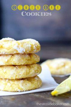 Lemon Bar Cookies | FaveSouthernRecipes.com