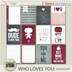 WHO LOVES YOU: Journal Cards