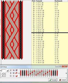 tablet weaving pattern 20 tablets