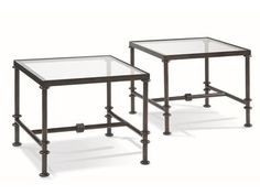 Shop for CTH-Sherrill Occasional Bunching Cocktail Table, 370-800, and other Living Room Tables at Cherry House Furniture in La Grange, KY. Forged iron in an aged bronze finish give this bunching table a hand made artisan quality. Clear glass inset top. Iron and Glass.