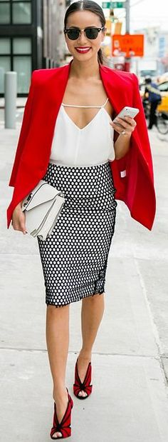 A pop of red will brighten up any outfit