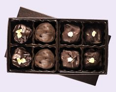 Delight 8-PC Gift Box #vegan #chocolates #truffles Edible Wedding Favors, Treat Yourself, Taste Buds, Truffles, Chocolates, Treats, Candles, Vegan, Sweet