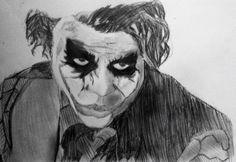 Joker heath ledger  Crayon de bois