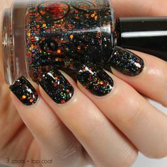 Pumpkin Carousel 12ml Glitter Nail Polish, Halloween Nail Polish, Indie Nail Polish, Fun Holiday Nai