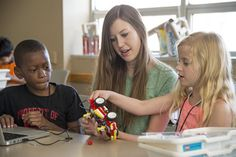 Campers move full STEAM ahead at Maryville Summer Science and Robotics.