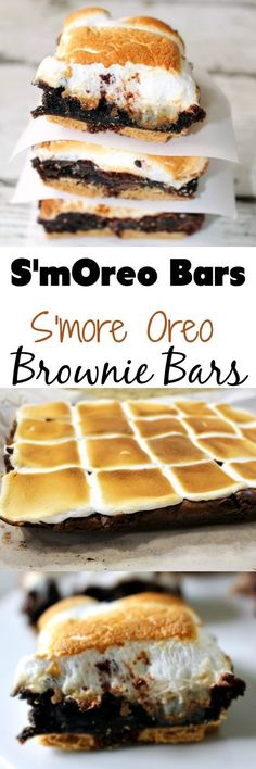 These S'more Oreo Brownie Bars, aka the S'mOreo, is the perfect summertime dessert