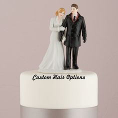Wedding Cake Topper  Winter Wedding Couple  by LoveandLuxeHandmade, $48.99