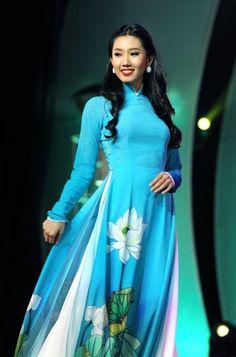 LOTUS LONG DRESS - HS061 A simple beauty, Vietnam the hidden charming :)