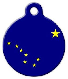 Alaska Flag - Custom Pet ID Tag for Dogs and Cats - Dog Tag Art - LARGE SIZE ** Check this awesome product by going to the link at the image. (This is an affiliate link) Alaska Flag, Dog Tags Pet, Dog Collar Tags, Tag Art, Animal Rescue, Your Pet, Dog Lovers, Dog Cat, Pets
