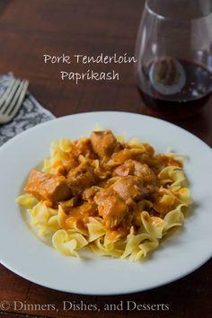 Pork Tenderloin Paprikash