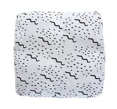 Pattern Floor Cushion in Waves design Modern Dog by ZanaProducts