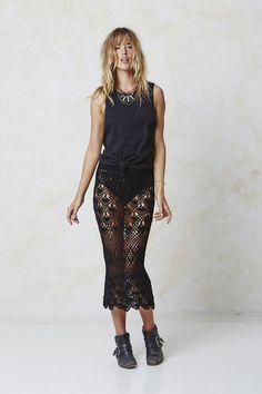 #AugusteFrank Crochet Skirt