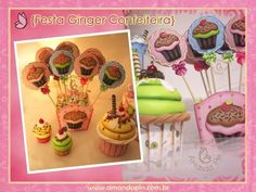 Festa cupcake 1 + bolo artístico + e.v.a 3D