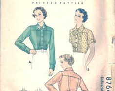 Vintage 30s Dress Pattern 1930s Simplicity 1799 34 by weezieduzzit