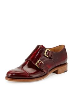 Cap-Toe Monk-Strap Loafer, Scarlett by The Office of Angela Scott at Neiman Marcus.