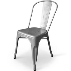 """Aeon Garvin-1 Side Chair Silver - Our Garvin-1 galvanized steel chair's classic industrial look is perfect in a variety of settings. Whether it's in your urban apartment or your rustic country home, the Garvin-1 is both stylish and functional. Chairs are suitable for indoor or outdoor use and come with non-marking feet to protect your floors. Dimensions: 17.5""""w x 18""""d x 33""""h."""