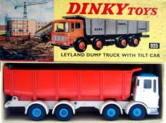 Vintage Toys Wanted by the-toy-exchange- A nice boxed mint condition example of No 925 DINKY TOYS LEYLAND DUMP TRUCK with tilt cab.