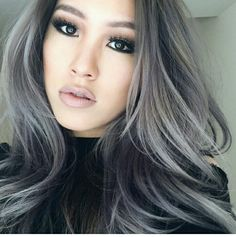 Silver/grey balayage ombre