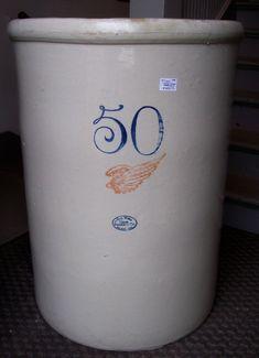 Antique Pottery Crocks | ... Union Stoneware Co. 50 Gallon Crock 425 | Prock's Crocks and Antiques