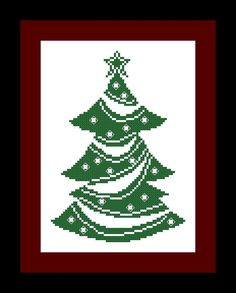 Christmas Tree Cross Stitch Pattern  Holiday by threadsandthings1