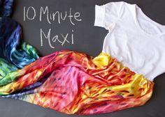 10. Tee Maxi - 10 Summer Perfect DIY Maxi Dresses ... | All Women Stalk