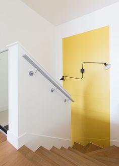 Leibniz - GCG ARCHITECTES - Paris - escalier -  bois - couleur - duplex