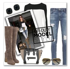 """Off-Duty Model Style (Kendall Jenner)"" by gracelewisother ❤ liked on Polyvore featuring Calvin Klein, AG Adriano Goldschmied, ABS by Allen Schwartz, Rupert Sanderson and CÉLINE"