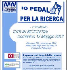 Il MarioNegri organizza l'iniziativa - Io pedalo per la Ricerca 2013: a spasso tra i luoghi della ricerca di MIlano http://www.marionegri.it/mn/it/sostegno/pedalo_ricerca.html#.UXFmTqOsvRQ.twitter