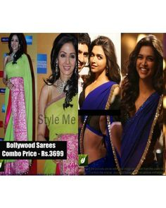 Combo Offer For Net Georgette Bollywood Sarees