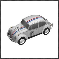 Herbie Volkswagen Beetle Paper Car Free Paper Model Download