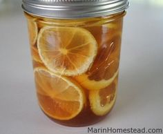 Lemon ginger honey -- supposedly the best home remedy for coughs and stuffiness