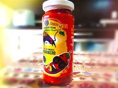Rótulo patê de pimenta - Restaurante Olé Armazém Mexicano #pepper #art