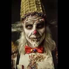 "Season 2 - Episode 8 ; ""Burtonesque"" Tim Burton inspired, Matt's makeup, the ice cream man.  #faceoff #syfy #faceoffsyfy #specialeffectsmakeup #icecream #icecreamman #clown #timburton #burtonesque #somanyhashtags"