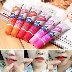 6 unids/lote oso romántico hot tatuaje del labio batom labial mate lápiz labial líquido maquillaje duradero impermeable pintalabios