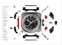 exploded view, Bell & Ross