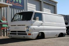 slammed and bagged Dodge A100 van