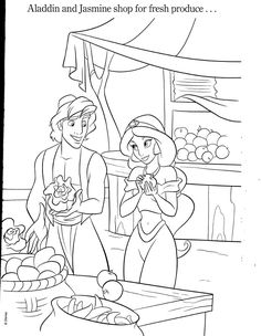 Jasmine And Aladdin Colouring Pages Rar File Via Megaupload Pdf Blown Up Scans Or Peek Under The Cut D Old Ones But Still Good