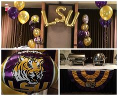 LSU Tailgate Balloons - Ideal Party Decorators