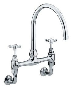 Bristan 1901 Wall Mounted Bridge Sink Mixer, Chrome N WMDSM C  View the full range of Bristan Taps available from Trading Depot by clicking here: http://www.tradingdepot.co.uk/DEF/catalogue/O023001/Kitchen%20&%20Bathroom%20Taps/By%20Manufacturer/Bristan%20Kitchen%20&%20Bathroom%20Taps