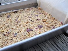 granola bar recipe from sarah tomich