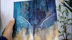 Abstract Angel Painting on canvas. Angel Paintings, Acrylic Paintings, Original Paintings, Angel Art, The Originals, Canvas Size, Watercolor Tattoo, Abstract Art, Angels