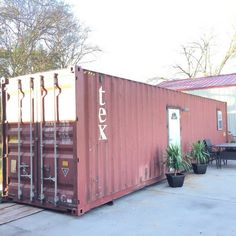 TINY TEXAS SHIPPING CONTAINER HOME