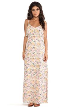 Joie Hydeia Garden Floral Maxi Dress in Picnic Pink