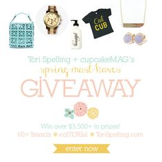 ediTORIal + cupcakeMAG Spring Must-Haves Giveaway {ToriSpelling.com}