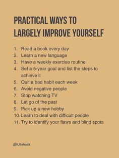11 Practical Ways To Improve Yourself Quickly