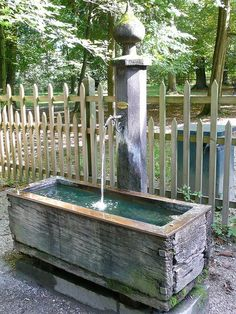 Well  Wooden Water Trough